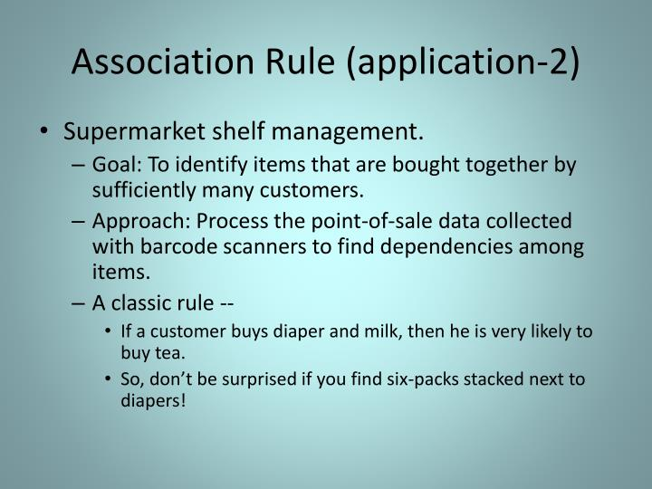 Association Rule (application-2)