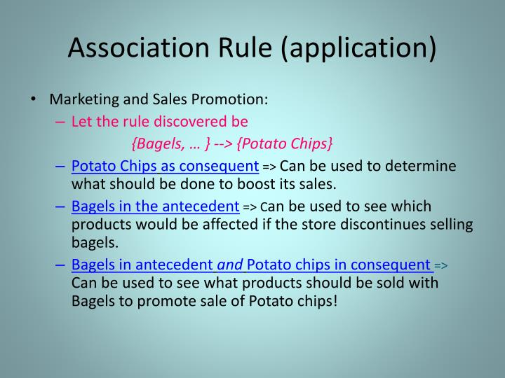Association Rule (application)