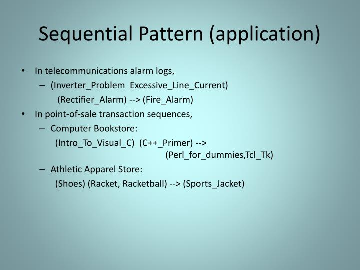 Sequential Pattern (application)