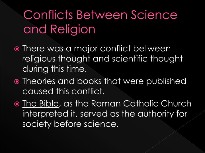 conflict science religion essay