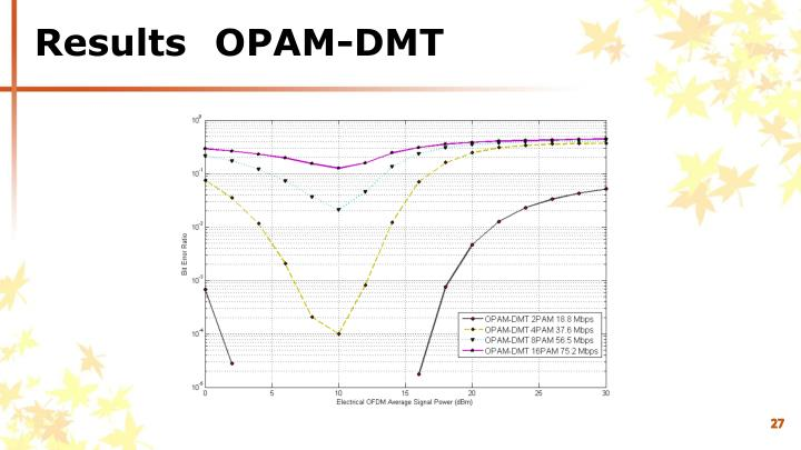 Results	OPAM-DMT