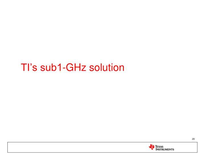 TI's sub1-GHz