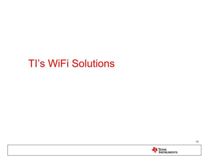 TI's WiFi Solutions