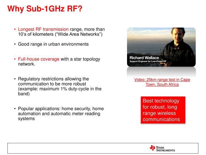 Why Sub-1GHz RF?