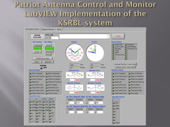 Patriot Antenna Control and Monitor