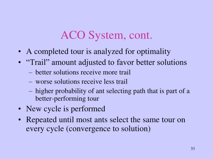 ACO System, cont.
