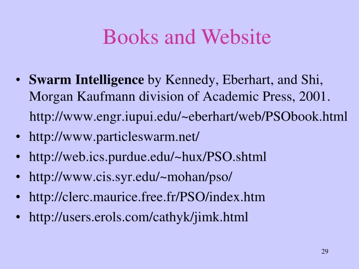 Books and Website