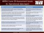 arpa e june 29 assessment issues 6 operational data layer