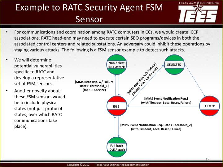 Example to RATC Security Agent FSM Sensor