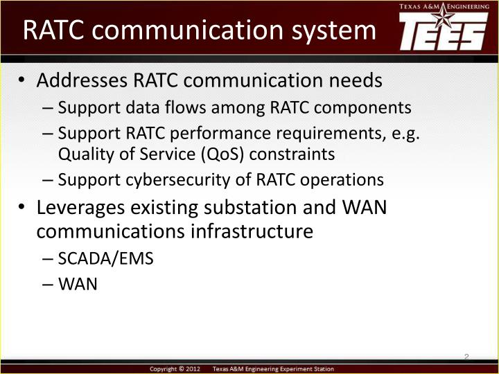 Ratc communication system