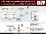 ratc wan design considerations wan connectivity with non utility infrastructure