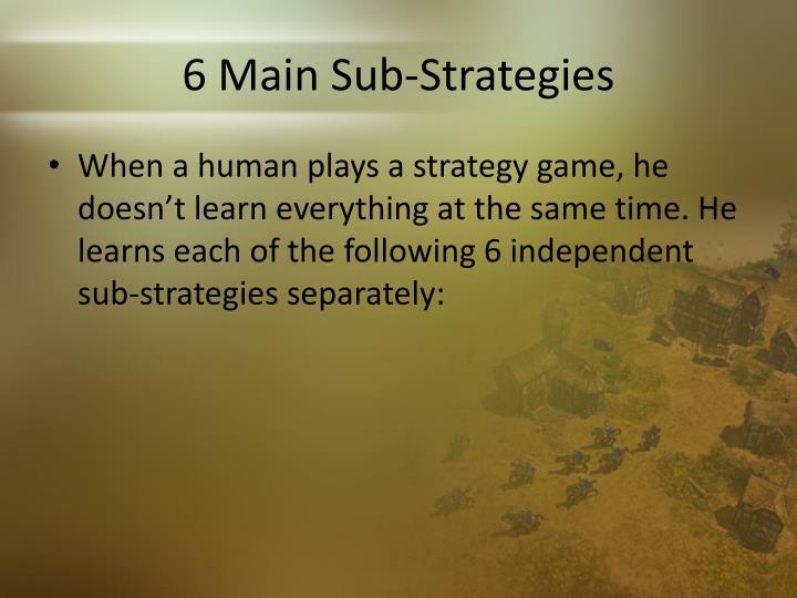 6 Main Sub-Strategies
