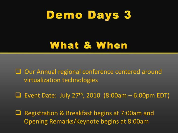 Demo Days 3