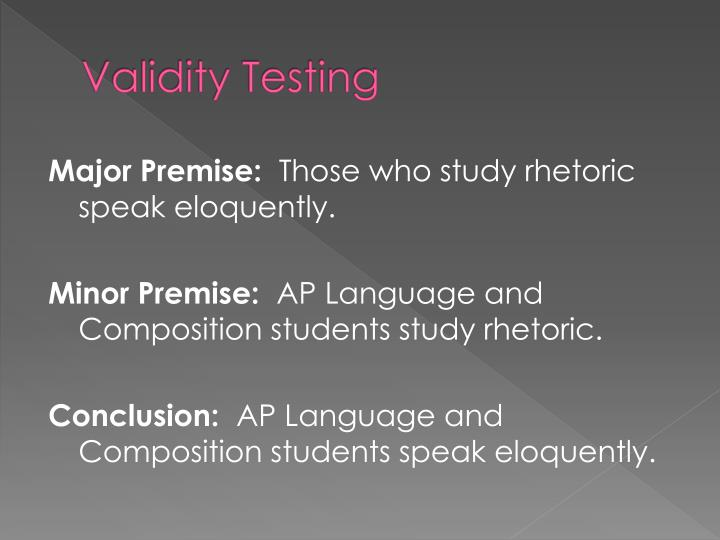 Validity Testing