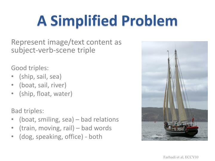 A Simplified Problem