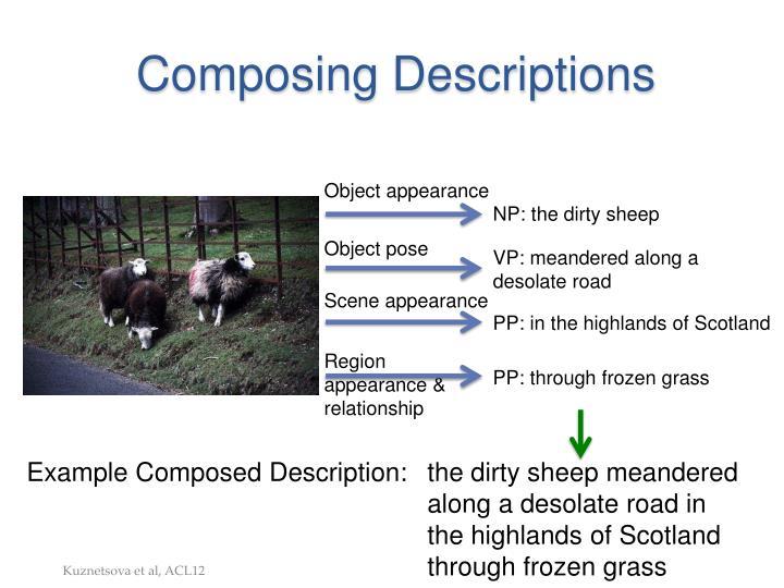 Composing Descriptions