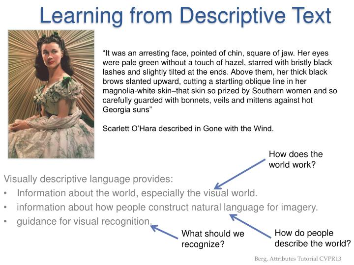 Learning from Descriptive Text