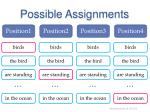 possible assignments1