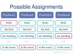 possible assignments2