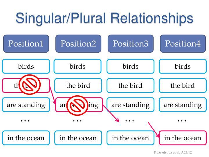 Singular/Plural Relationships