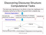 discovering discourse structure computational tasks