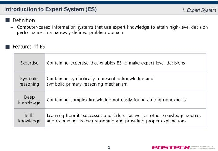 Introduction to expert system es