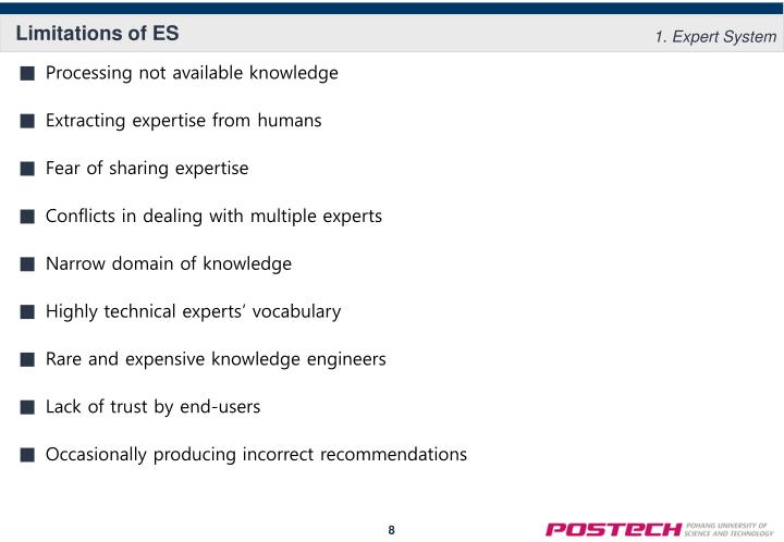Limitations of ES