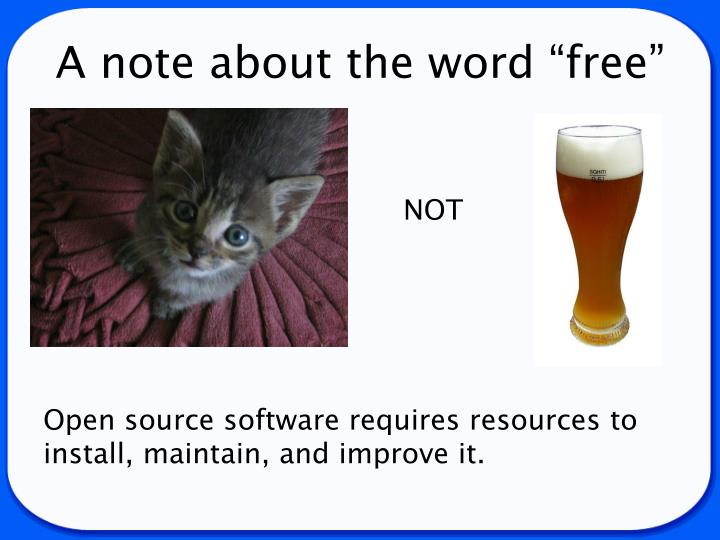 "A note about the word ""free"""