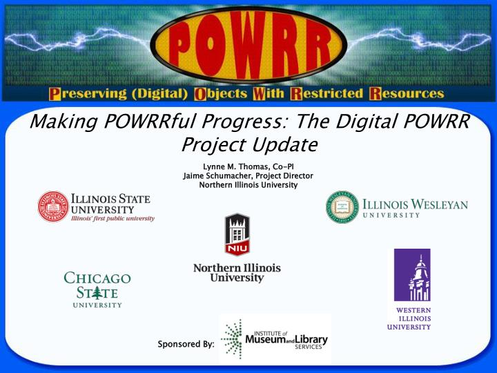 Making powrrful progress the digital powrr project update