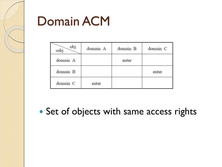 Domain ACM