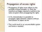 propagation of access rights1