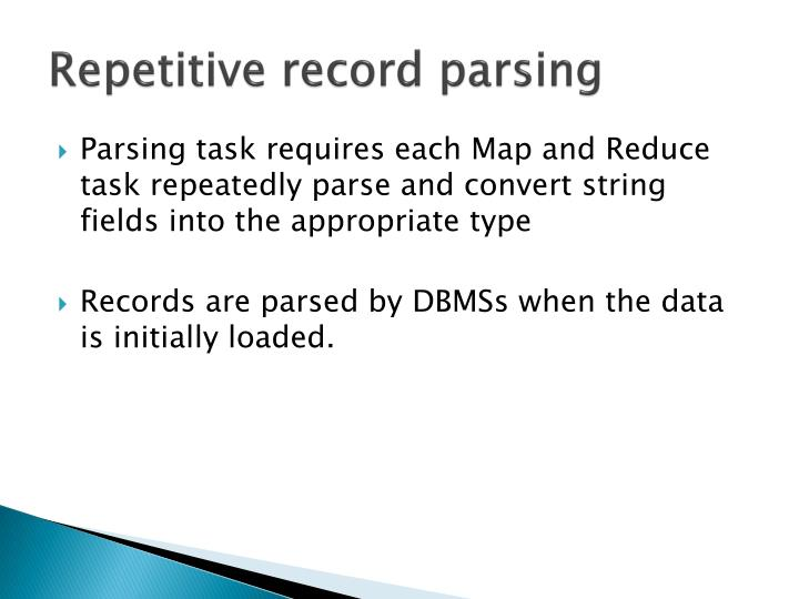 Repetitive record parsing