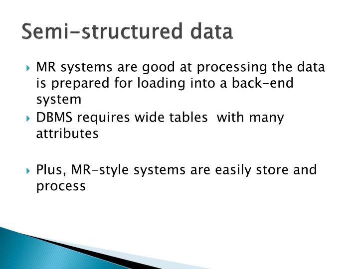 Semi-structured data
