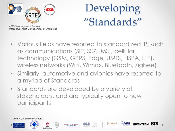 "Developing ""Standards"""