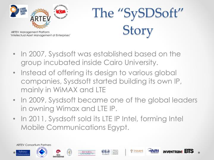 "The ""SySDSoft""  Story"