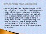 europe with crop demands