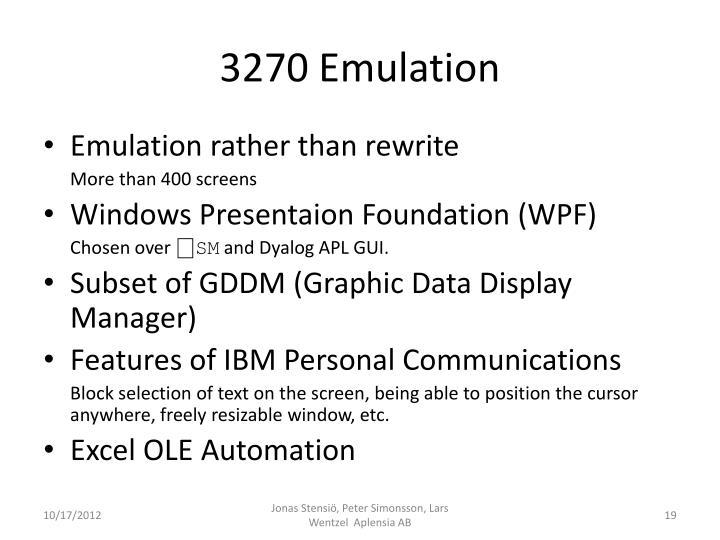 3270 Emulation