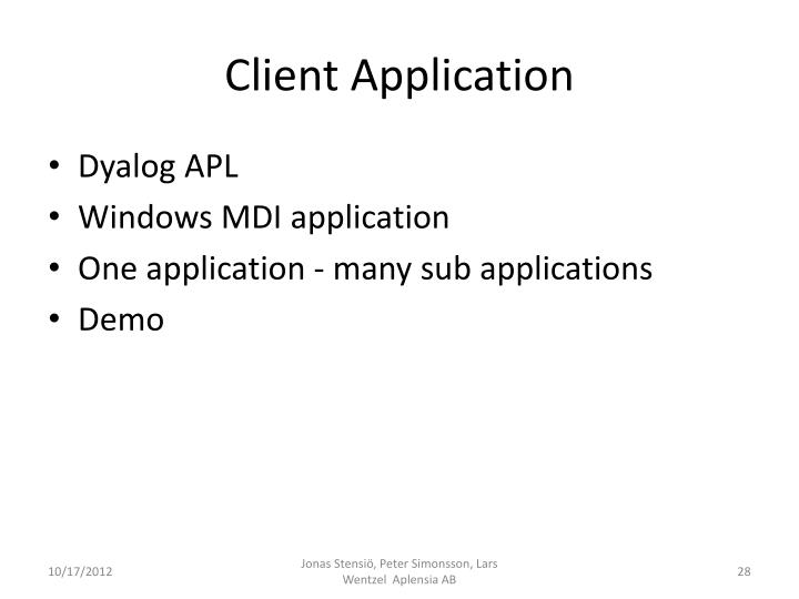 Client Application
