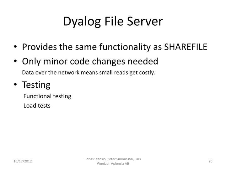 Dyalog File Server