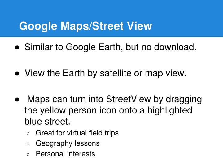 Google Maps/Street View