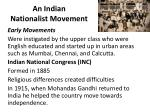 an indian nationalist movement