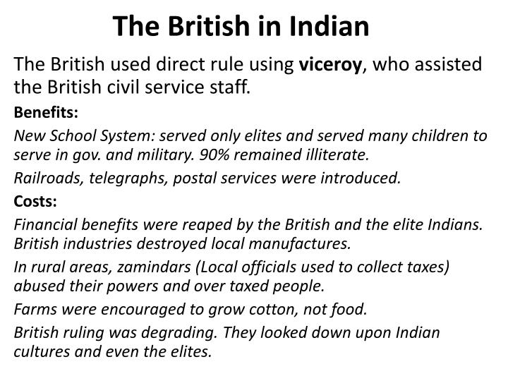 The British in Indian
