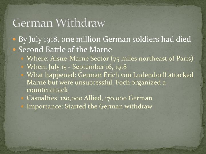 German Withdraw