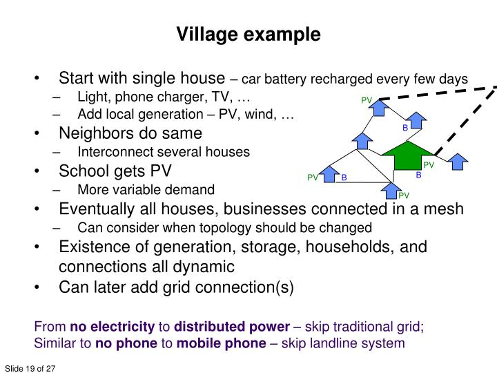Village example