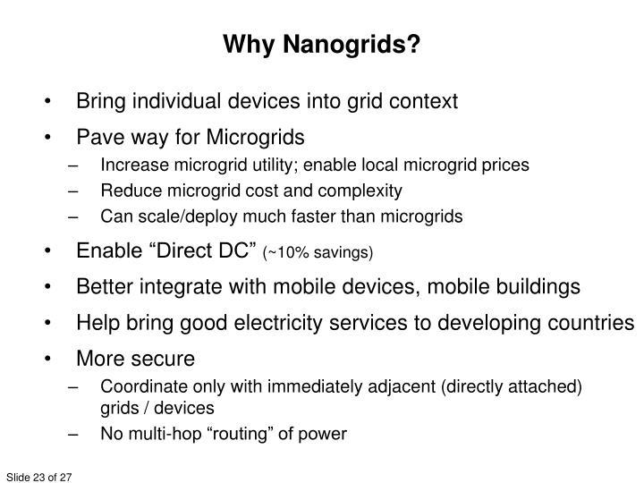 Why Nanogrids?