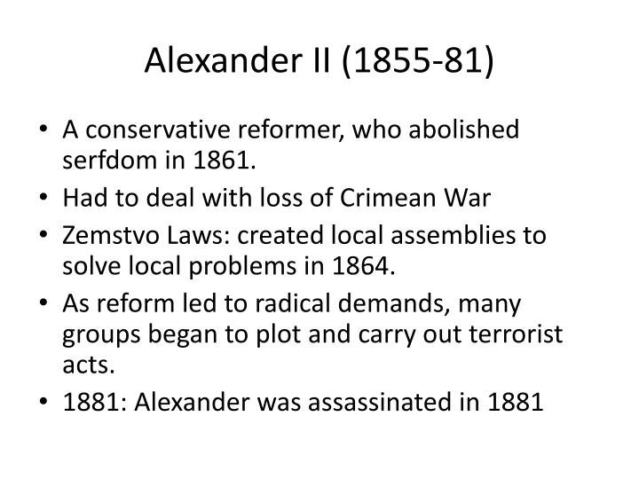 Alexander II (1855-81)