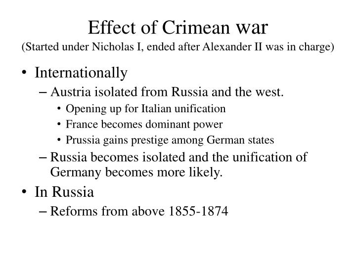 Effect of Crimean