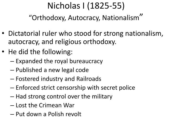 Nicholas I (1825-55