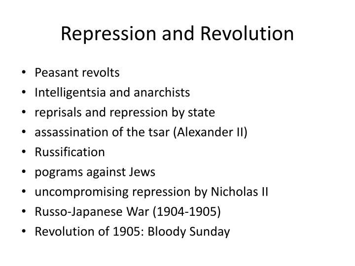 Repression and Revolution
