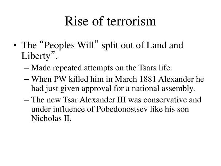 Rise of terrorism